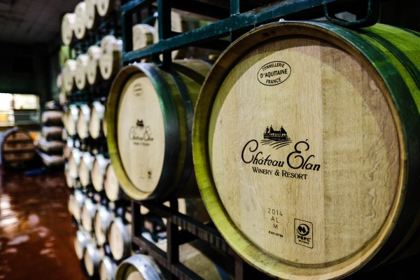 Imported French Casks specially made for Chateau Elan